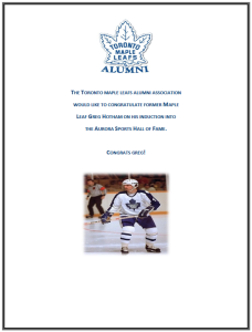 Maple leafs Letter