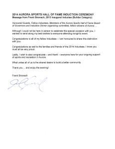Stronach Letter
